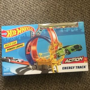 Hot wheels track with car set